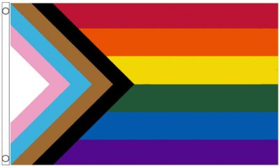 Progress Rainbow  LGBTQ+ Gay Pride Reboot 5' x 3' (150cm x 90cm) Flag